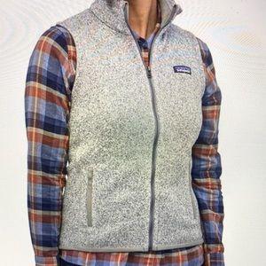 Patagonia Better Sweater Vest, Size L, Birch White